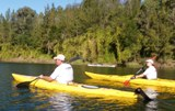 Kayaking on the Hawkesbury to join landcare groups on their site